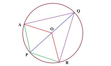 Через точку Р окружности