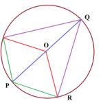 Через точку Р окружности проведены диаметр и две хорды
